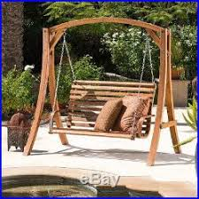 front porch swing with stand hammock chair 2 person wood loveseat
