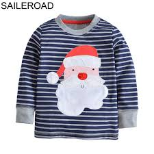 saileroad cotton children boys s shirts autumn santa