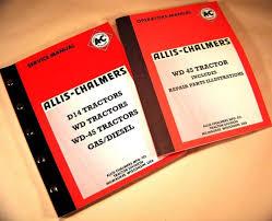 set allis chalmers wd45 tractor service repair operators parts