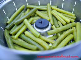 cuisine haricot vert haricots verts à la vapeur recette companion moulinex