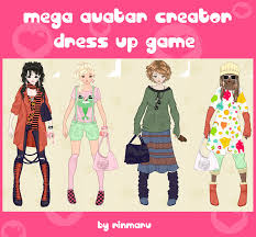 mega avatar creator dress up by rinmaru on deviantart