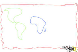 world map image drawing how to draw a world map drawingnow