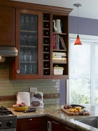 Glass Wall Shelf Feat Black Dishwasher And Stainless Steel Corner - Glass shelves for kitchen cabinets