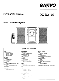 sanyo home theater system dc da100 user guide manualsonline com