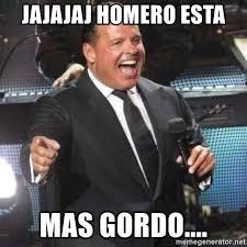 Memes Luis Miguel - jajajaj homero esta mas gordo luis miguel no culpes meme