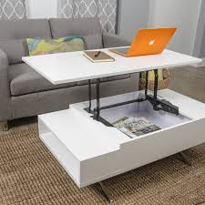 matrix stelar white lift top rectangular coffee table small