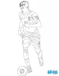 neymar coloring pages hellokids for soccer players coloring