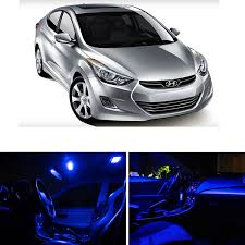Hyundai Elentra Interior Amazon Com Ledpartsnow Hyundai Elantra 2011 U0026 Up Blue Premium Led