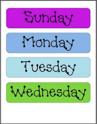 85 best kids learning days of the week u0026 months of the year