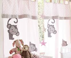 Nursery Curtains Pink by Baby Bedding Sets Pink Monkey 2 Curtains Baby Nursery Bedding