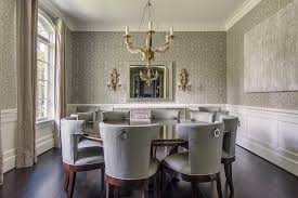 Grey Dining Room Furniture Gray Dining Room With Wainscoting Transitional Dining Room