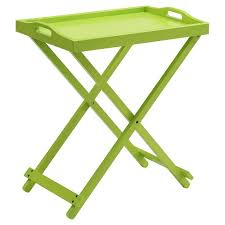 folding oversized wood tray table in espresso folding tray table green convenience concepts target