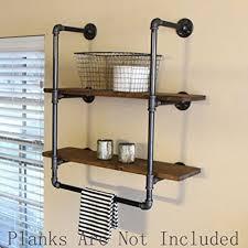 Towel Shelves For Bathroom Industrial Retro Wall Mount Iron Pipe Shelf Bathroom