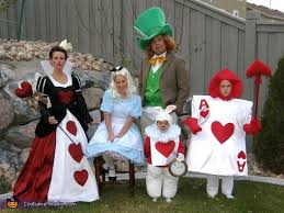 alice wonderland characters halloween costume idea family