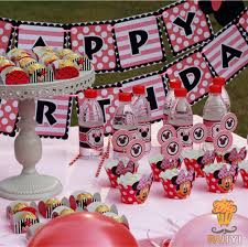 baby shower party supplies luxury kids birthday decoration set minnie mouse theme party