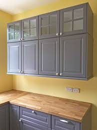gray stained kitchen cupboards painted vs stained cabinets