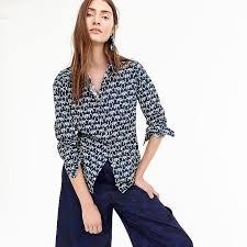 elephant blouse s shirt in elephant print s shirts j crew