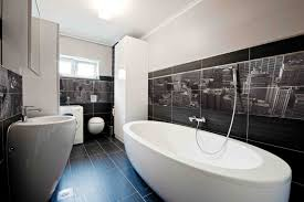 Black Bathroom Tiles Ideas Glass Door Beside Calm Wall Paint Small Bathroom Designs With Walk