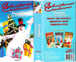 christmas cartoons frosty the snowman vhscollector com your