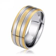 stainless steel wedding rings tripleclicks high quality stainless steel ring titanium steel