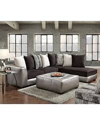 microfiber sectional with ottoman memorial day sales on roundhill furniture shimmer pewter