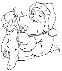 stocking present santa claus coloring pages christmas coloring