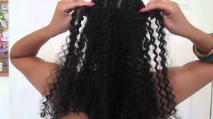 Hair Extension Clips by Plush Natural Curl Clip In Tutorial U0026 Review