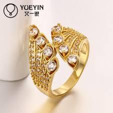 beautiful jewelry rings images Beautiful shining crystal ring design classic fashion gold plating jpg