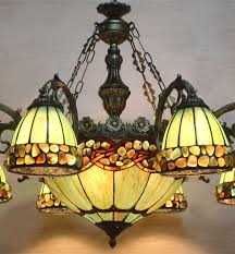 Stained Glass Light Fixtures Dining Room Fumat Stained Glass Chandelier European Style Indoor Tranditional