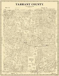 Map Of Denton County Old County Map Tarrant Texas Landowner 1885