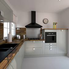 cuisine en bois gris cocinas bricomart lujo cuisine équipée grise bois moderne filipen