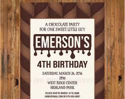 chocolate bar invite chocolate invitation chocolate party