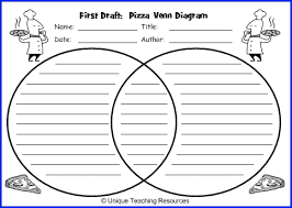 pizza venn diagram book report project templates worksheets