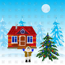 winter frost christmas tree clipart