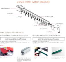 Motorized Curtain Track System Smart Home Motorized Curtain Track Electric Curtain Track System