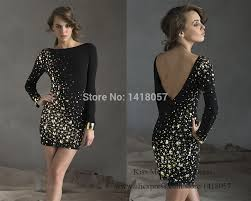 2015 elegant women black short christmas cocktail party dress v