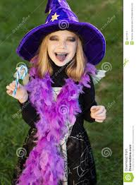 Halloween Makeup For Kids Witch Little Beautiful With Halloween Witch Costume Eating Candy