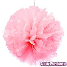 pink tissue paper tissue paper 14 inch pom pom light pink candywarehouse