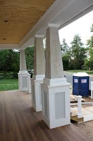 rustic front porch columns home design ideas