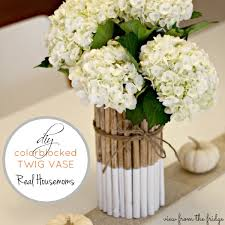 Where To Buy Vases For Wedding Centerpieces Diy Dipped Twig Vase View From The Fridgeview From The Fridge