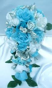 wedding flowers ebay gorgeous turquoise wedding bouquet bouquets bridesmaid
