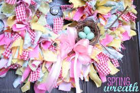 pops and podge spring rag wreath