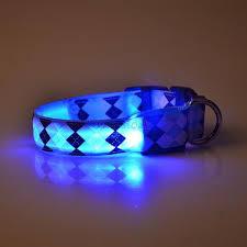 Light Up Dog Collar Multi Color Led Pet Dog Collar Night Flash Light Up Safety Nylon