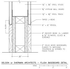 the flush baseboard detail time to build contemporary interior