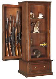 Building A Gun Cabinet Amazon Com American Furniture Classics 611 10 Gun Curio Slider