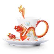 fancy coffee cups fancy creative dragon ceramic enamel coffee cup sets beddinginn com