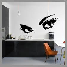 compare prices on beautiful wall stencils online shopping buy low large ladies eyes glam beauty pop wall art decal sticker mural bedroom decal vinyl transfer stencil
