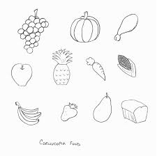 thanksgiving crafts print your cornucopia food template at