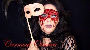 masquerade flesh mask carnival obscura halloween make up