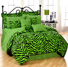 Zebra Print Bedroom Designs Black And Lime Zebra Print Bedding Set Interiordecorating